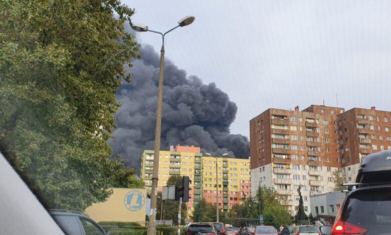 Groźny Pożar Składowiska Odpadów W Sosnowcu